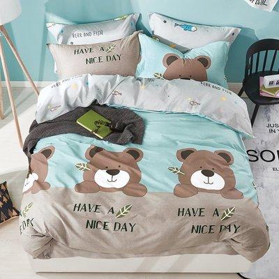 Claire Casa 台灣製 極致純棉 格林童趣-雙人三件式床包枕套組