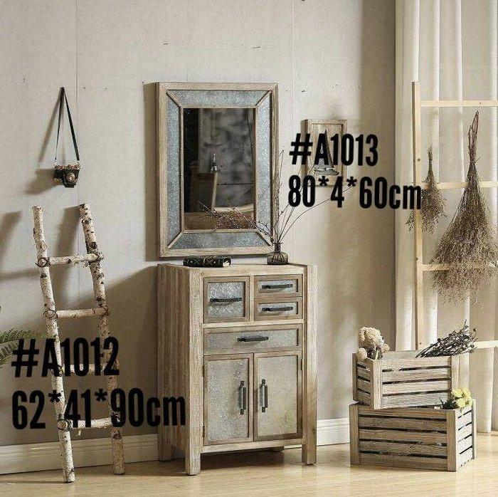 工業風格刷舊實木收納櫃  玄關櫃 置物櫃 loft 餐櫃 抽屜櫃 多款可購-- 美生活館 #A1012 四抽兩門櫃