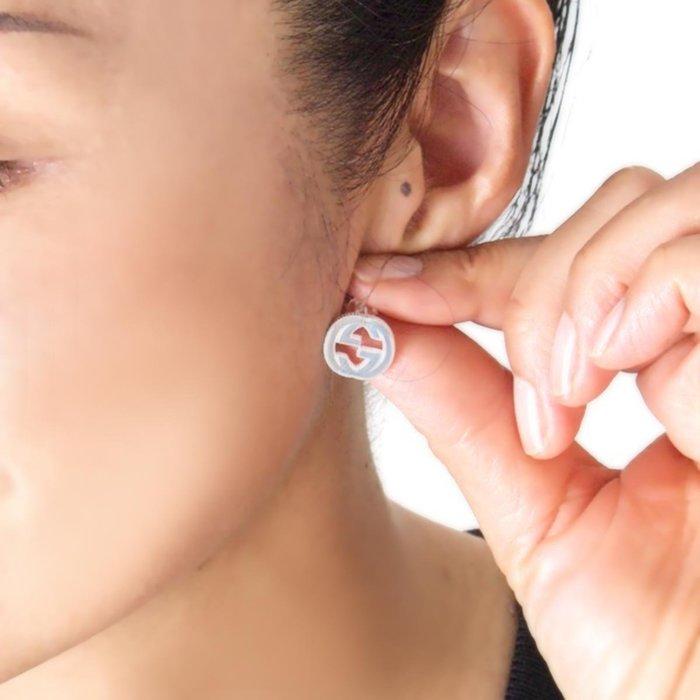 全新正品 479227 GUCCI Interlocking G 耳環 in silver 925純銀 耳環 尚有現貨1