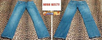 【J&K嚴選】義大利Miss Sixty 牛仔褲 顯瘦修身窄直筒 女款-顏色:刷藍 尺寸: 29腰【特賣】LV來自星星的