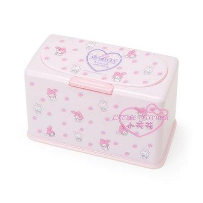 ♥小花凱蒂日本精品♥Hello Kitty 美樂蒂Melody口罩收納盒 收納箱 粉色滿版圖現貨美樂蒂 口罩盒