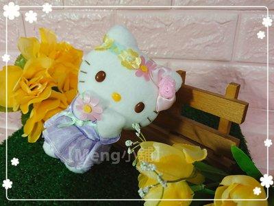 【Meng小舖】日本三麗鷗樂園 花園系列 花系列 花朵 Hello Kitty款絨毛玩偶 吊飾