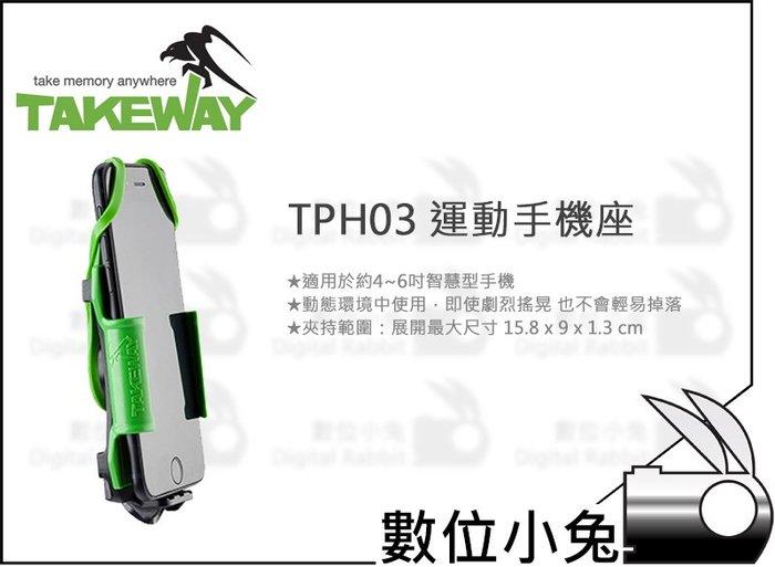 數位小兔【Takeway TPH03 運動手機座】手機夾 車架 公司貨 R2 手機支架 夾座 固定