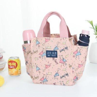 ZIHOPE 帶飯手提袋子帆布媽咪包飯盒包正韓午餐便當包拎裝飯盒袋的手提包ZI812