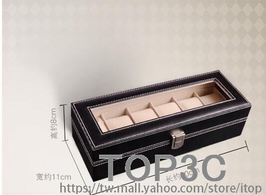 拉薇皮革手錶盒子 手鏈手錶收納盒 天窗展示盒 男友 老公禮物