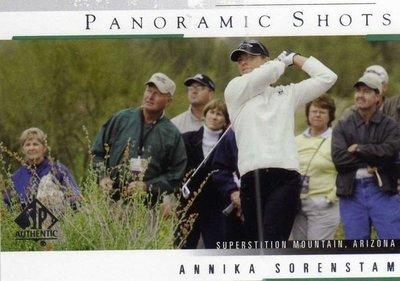 曾雅妮 索倫斯坦 裙擺搖搖 LPGA Annika Sorenstam 2005 GOLF #42 僅此一張