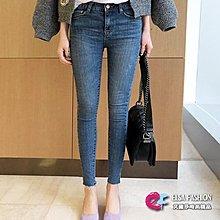 鉛筆褲窄管褲 單寧時尚修身九分鉛筆小腳褲 艾爾莎【TGK5684】