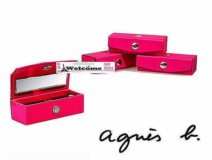 ( 現貨) agnes b 櫃檯贈品 妖惑 玫粉色 小巧 多用途口紅 唇彩盒/ 首飾盒 / 送禮佳品