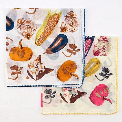 動植物款式手帕