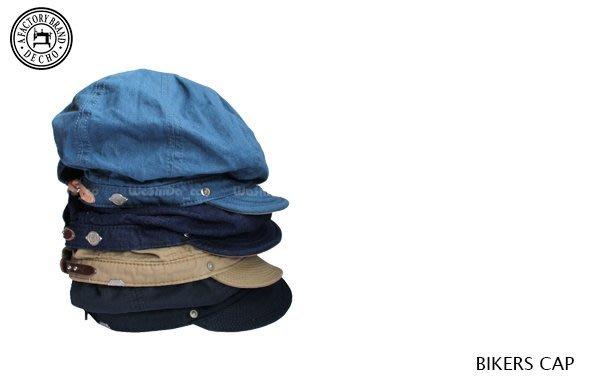 WaShiDa【D-2】DECHO 日本品牌 日本製 BIKERS CAP 騎士 WILD ONE 工裝 鴨舌帽 扁帽