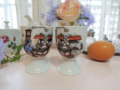 紫丁香歐陸古物雜貨♥法國 vintage之 Veritable利摩日Limoges古典人物陶瓷蛋杯一個之1