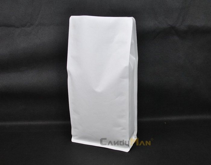 PHB101W – 純白 白牛皮紙 1.5磅 700g 平底袋 平底夾邊袋 含閥 100入