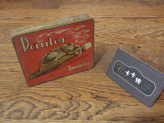 【卡卡頌 歐洲跳蚤市場/歐洲古董】歐洲老件_Panter 雪笳老鐵盒 質感收納 小物盒 m0468 提供租借✬