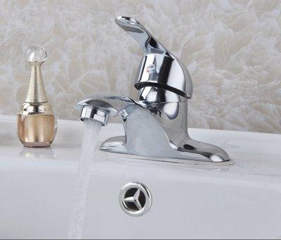 水龍頭 全銅面盆龍頭 衛生間冷熱水龍頭 雙孔三孔洗手盆洗臉盆混水閥  向左的街