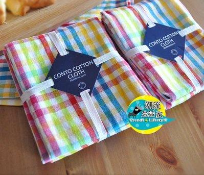 潮流生活家*日本 francfranc 彩色格子 桌巾 餐巾 墊布 茶巾 蓋布 擦手巾 抹布 3件入