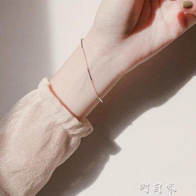銀冷淡風風手鍊女韓版簡約氣質學生森系個性小眾設計