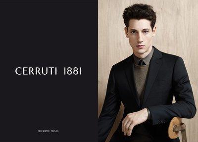 歐碼50 《cerruti 1881》super 130+ 7% Cashmere 頂級黑色單排三釦西裝