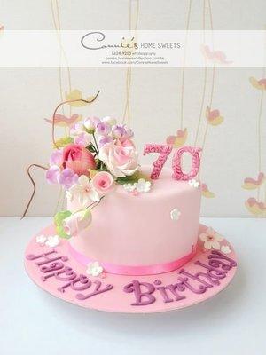 【Connie's Home Sweets】Wedding Cake Bridal Shower Birthday Cake 結婚蛋糕 生日蛋糕 玫瑰 糖花