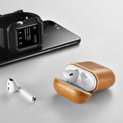 促銷 AirPods保護套 真皮 蘋果無線耳機充電盒防震便攜防丟收納盒 隨身攜帶IPHONE X IX I10
