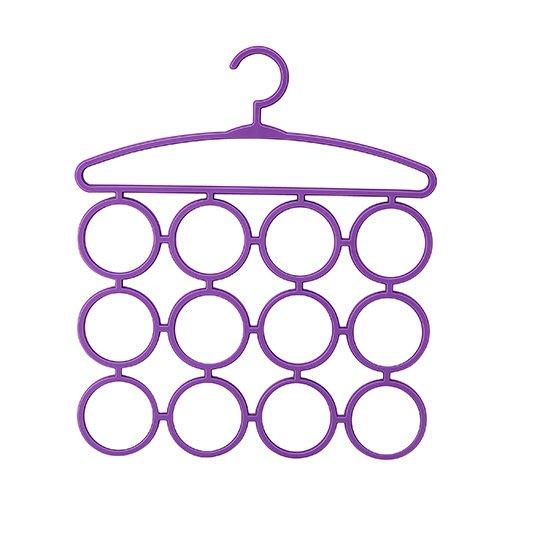 圓圈圈衣物架(3入)/圍巾收納/頭巾/領帶/毛巾收納/衣櫥收納/衣架/直購價
