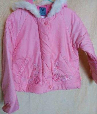 【Pumpkin Patch】學齡女108CM #繡花外套 #粉紅色 #連身帽 #內裡100%純棉 #太空衣外套