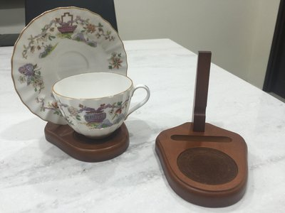 【達那莊園】質感木製展示架 花茶杯盤架 咖啡杯盤架 【現貨】