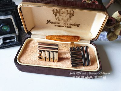 黑爾典藏西洋古董 ~美國Swank 60's摩登復古袖扣~ Vintage復古褲子煙斗紅酒戒指手鍊