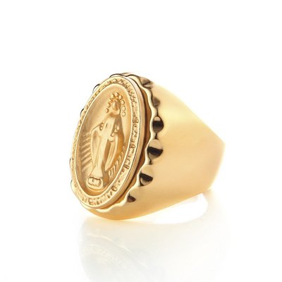 SOLO Immaculate Conception Ring 天主教聖母戒 金色 藤原本舖