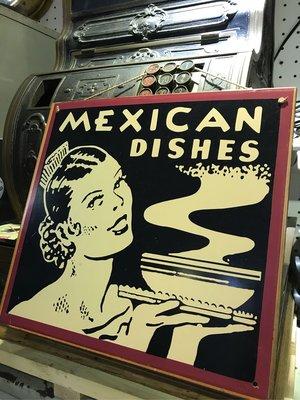 ** 55 Antiques - MEXICAN DISHES  鐵牌** 鐵牌 廣告戲劇電影道具租借 陳列擺飾商空設計 老物舊貨佈置