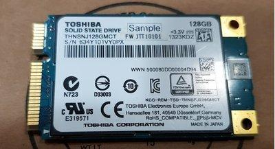 純日製1年保固 東芝 TOSHIBA THNSNJ128GMCT 128GB MSATA SSD固態128G MLC顆粒