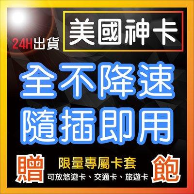 台灣首創 10天 美國神卡 不需開通 隨插即用 不降速吃到飽 限時特價 美國網卡 高速4G 無限流量 吃到飽