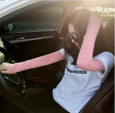 純棉袖套防曬女開車騎行夏季男戶外運動護臂手臂套袖子 QG692
