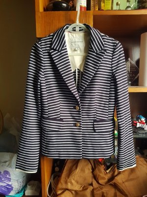 BANANA REPUBLIC香蕉共和國 淑女OL條紋西裝外套 (S)