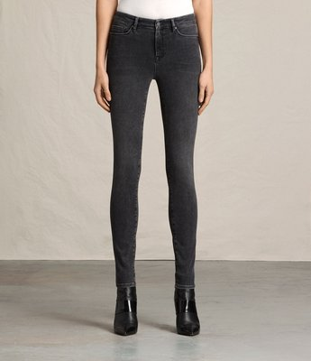 Allsaints~GRACE JEANS 牛仔褲  skinny jeans washed black-size26
