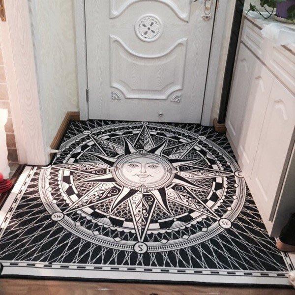 歐式客廳沙發茶几地墊地毯臥室床邊地板墊簡約現代玄關門廳可機洗