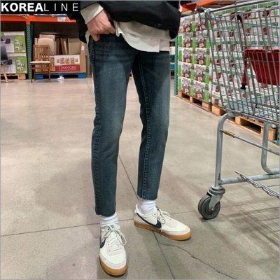 搖滾星球韓國代購 水洗刷色煙管窄管牛仔褲 / 彈性腰 GP3471