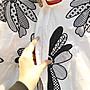 ♥ 219巷 許菲の舖 ♥ 設計師款 ♥ 時尚簡約 小香風文藝重工刺繡花朵休閒翻領大碼中長款襯衫 寬鬆舒適連身裙