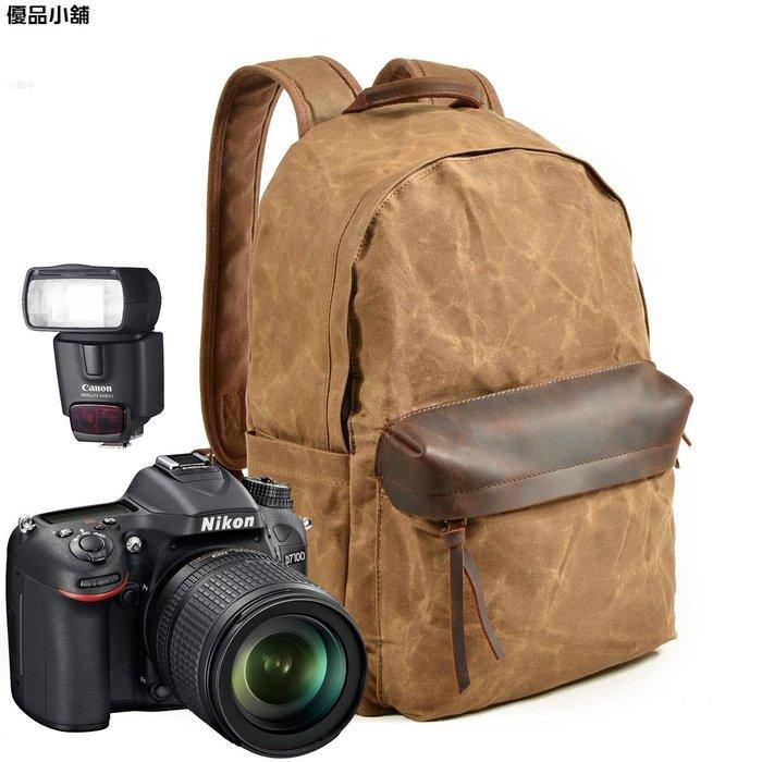 韓版沐川單反相機包雙肩攝影背包單反帆布攝影包防水 雙肩包  優品小鋪