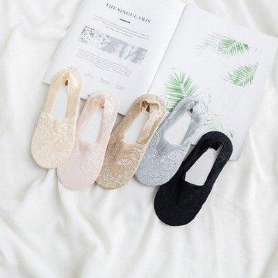 【珍昕】韓國淺口隱形蕾絲船襪 (約長21cm*寬8cm)/防滑襪/襪子/隱形襪