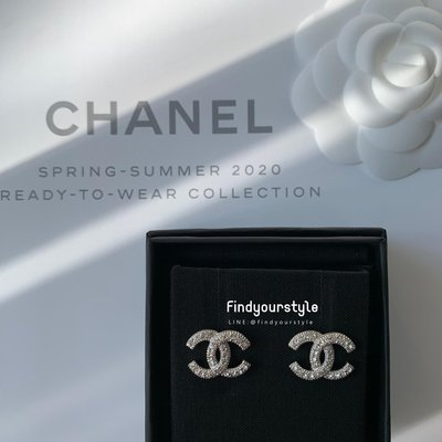 Findyourstyle正品代購 CHANEL 銀碎鑽耳環