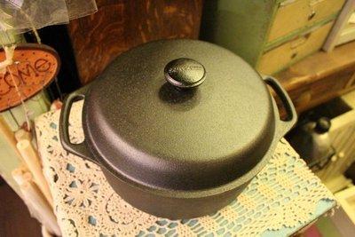 ZAKKA糖果臘腸鄉村雜貨坊     雜貨類..skeppshult 鑄鐵圓鍋.含鑄鐵鍋蓋(烤箱烤火雞悶煮鍋燉鍋湯鍋)