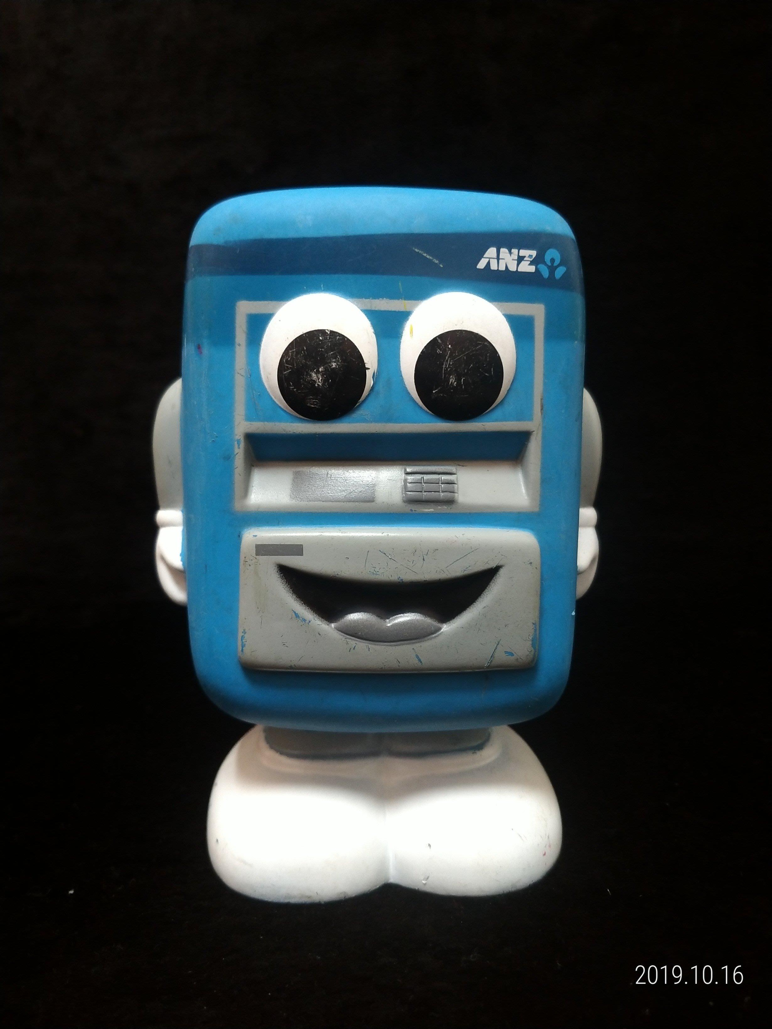 ANZ 澳盛銀行 - 提款機 玩偶 公仔 - 16公分高 - 紀念存錢筒 - 401元起標      A-5箱