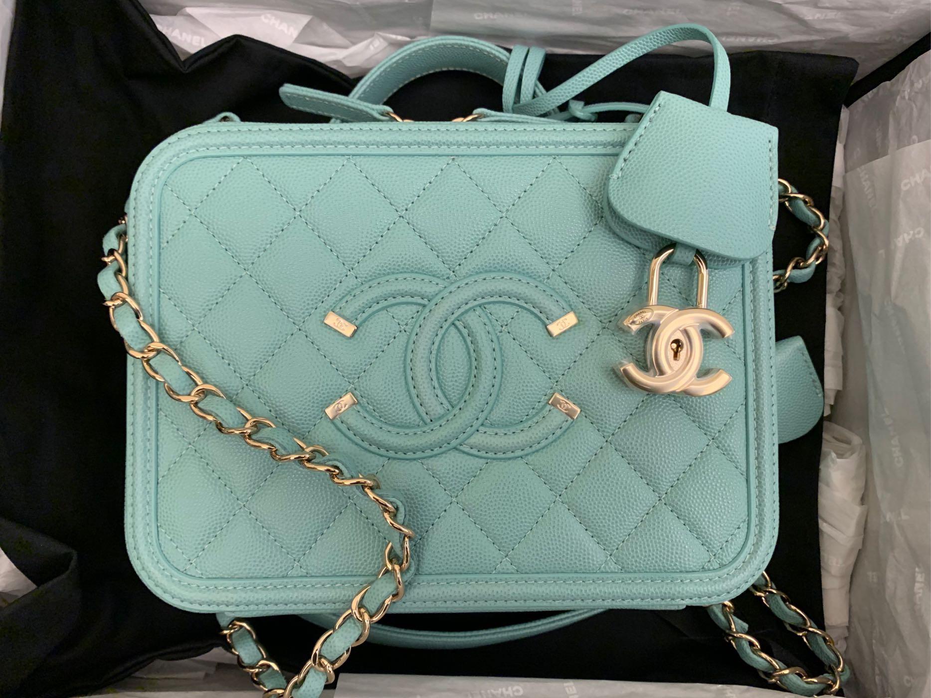 香奈兒 化妝箱 Chanel vanity21 ❤️2020蒂芬妮藍❤️