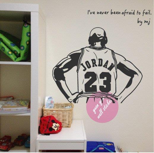 【P-61】籃球之神 Michael Jordan 背影 M size壁貼 芝加哥公牛 空中飛人 AIR 最後之舞