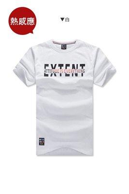 【AMERO】台灣製造 男裝圓領短袖T恤 熱感應 EXTENT變色印字 情侶裝 有大尺碼2L:白.黑.灰(編號3c23)