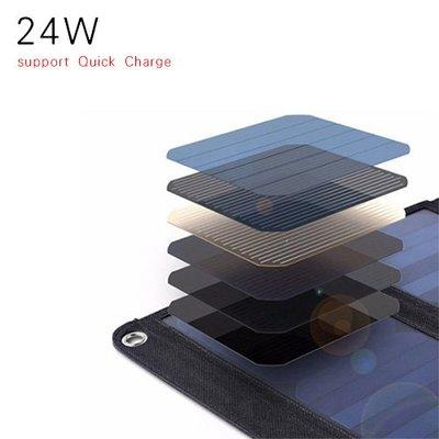 IB 奇點生活 + 可摺式太陽能充電板 (24W, QC快充) Solar Charger