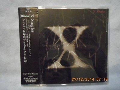 *日版CD--X JAPAN X Singles 單曲精選 (付側標)