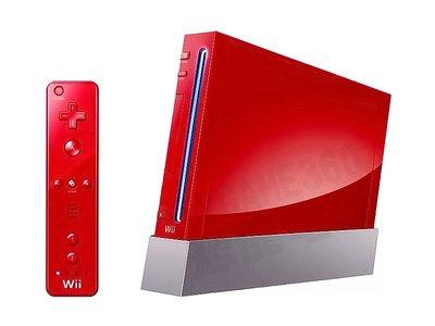 【二手主機】任天堂 NINTENDO WII 主機 台灣規格 紅色 附原廠左右控制器+變壓器+AV線+主機直立架 台中