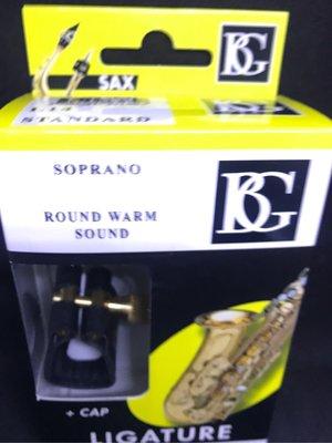筌曜樂器(I4072)全新 BG L14 皮束圈 高音 薩克斯風 soprano 皮質 吹口束圈+原廠蓋 超低價