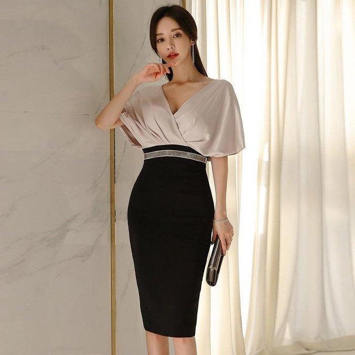 連身裙#20336  🌸Mini Moda🌸 V領拼接連身裙